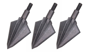 OZCUT SCREW IN 3 BLADE BROADHEAD 3 PACK